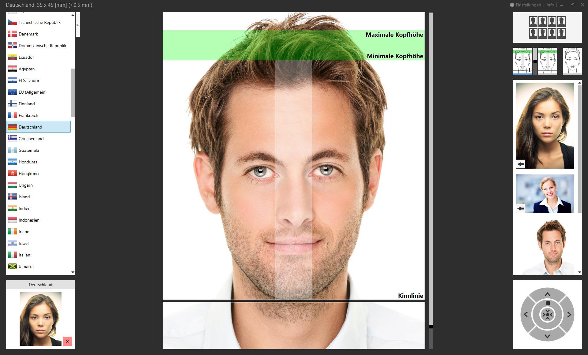 Ausgezeichnet Photoshop Passfoto Vorlage Zeitgenössisch ...
